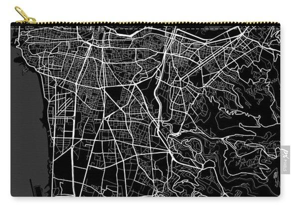 Beirut Lebanon Dark Map Carry-all Pouch