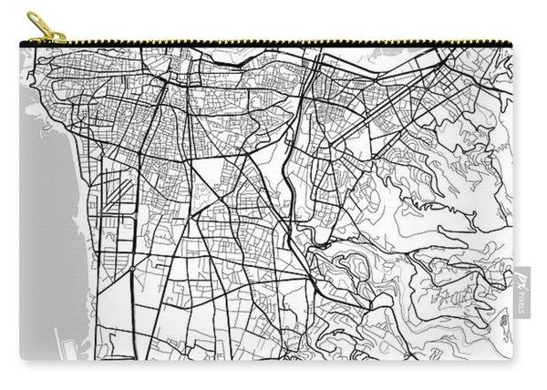 Beirut Lebanon Light Map Carry-all Pouch