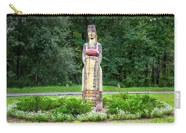 Belarus Roadside Carving Carry-all Pouch