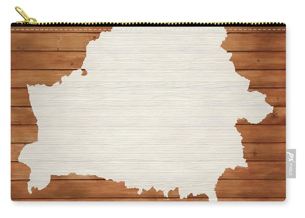Belarus Rustic Map On Wood Carry-all Pouch