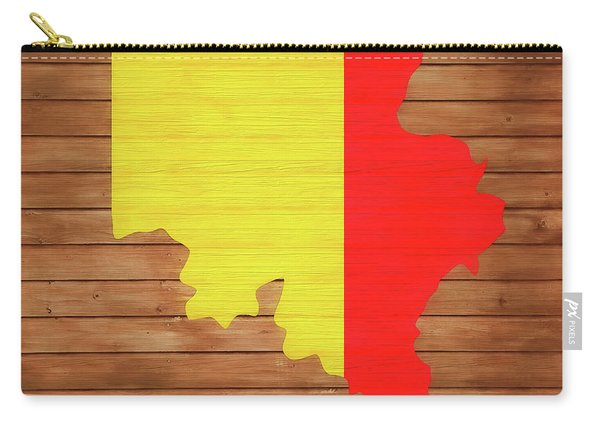 Belgium Rustic Map On Wood Carry-all Pouch