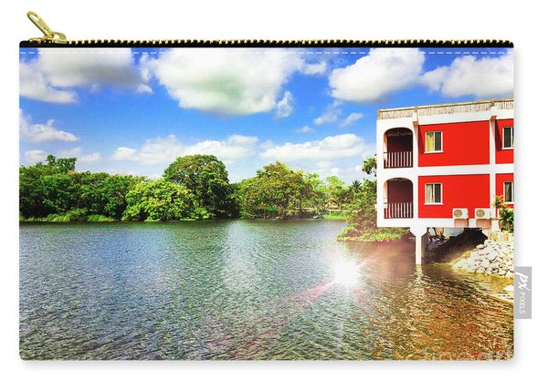Belize River House Reflection Carry-all Pouch