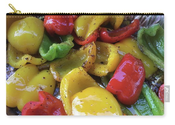 Carry-all Pouch featuring the digital art Bell Peppers Original Iphone Photo by Visual Artist Frank Bonilla