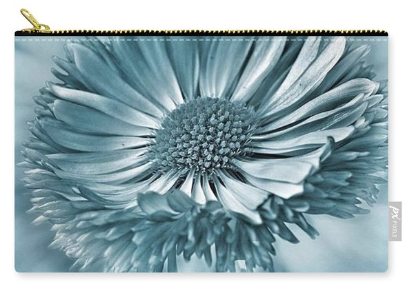 Bellis In Cyan  #flower #flowers Carry-all Pouch