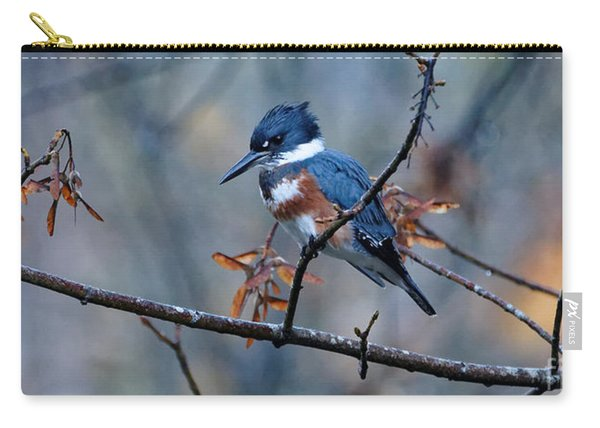 Belted Kingfisher Perch Carry-all Pouch