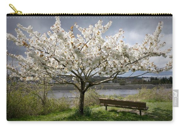 Bench And Blossoms Carry-all Pouch
