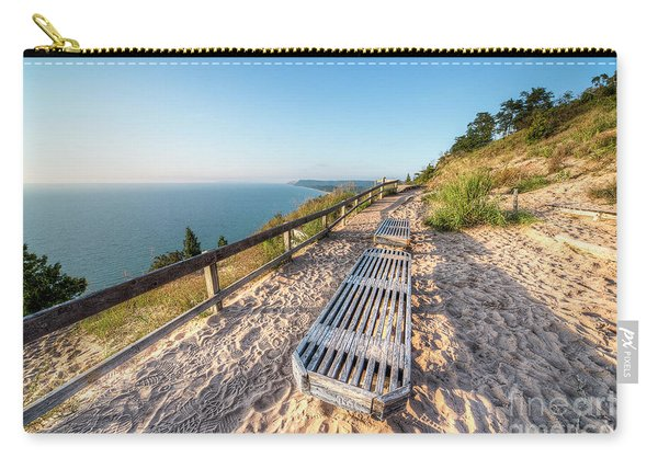 Bench At Empire Bluff Carry-all Pouch