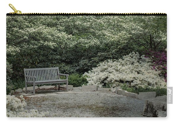 Carry-all Pouch featuring the photograph Bench by Michael Colgate