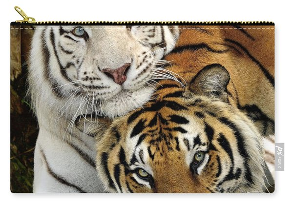 Bengal Tigers At Play Carry-all Pouch