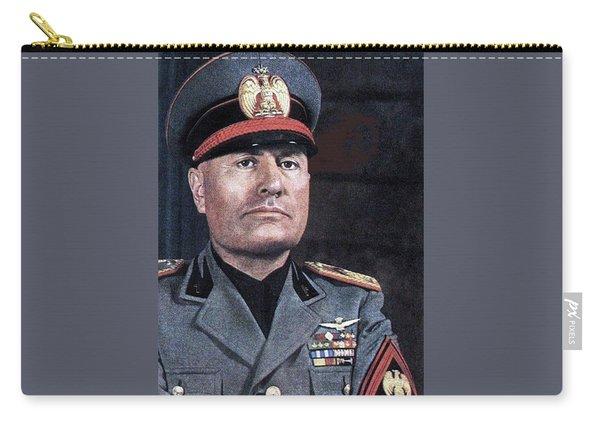 Benito Mussolini Color Portrait Circa 1935 Carry-all Pouch