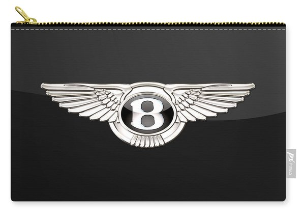 Bentley - 3 D Badge On Black Carry-all Pouch
