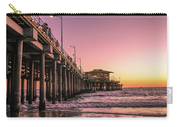 Carry-all Pouch featuring the photograph Beside The Pier By Mike-hope by Michael Hope
