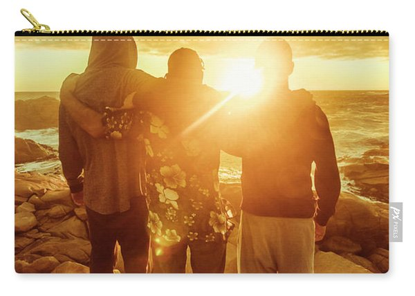 Best Friends Greeting The Sun Carry-all Pouch