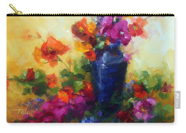 Carry-all Pouch featuring the painting Best Friends by Talya Johnson