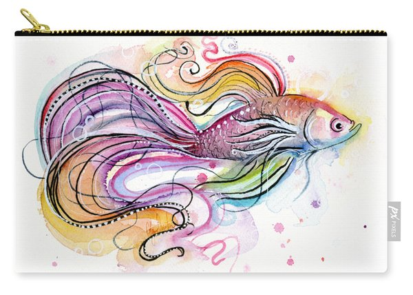 Betta Fish Watercolor Carry-all Pouch