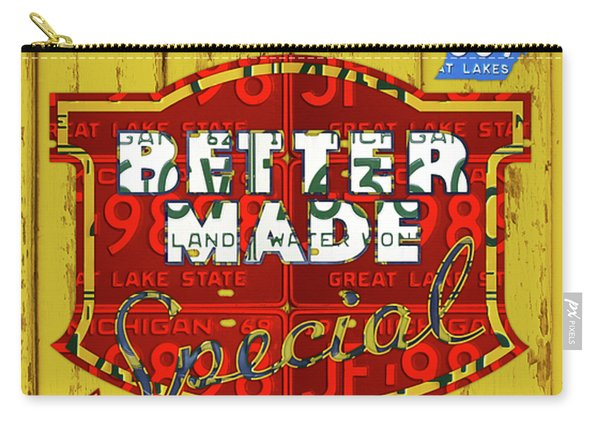 Better Made Potato Chips Michigan License Plate Art Carry-all Pouch