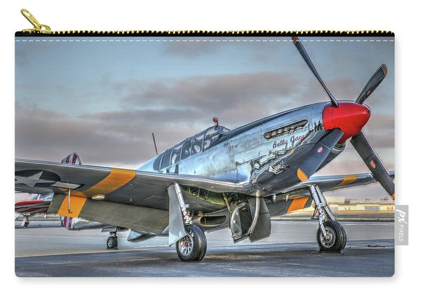Betty Jane P51d Mustang At Livermore Carry-all Pouch