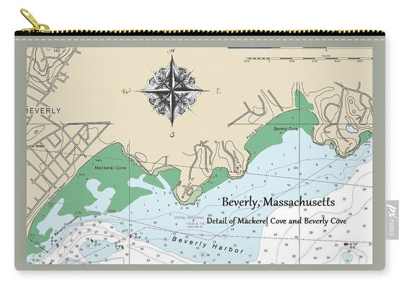 Beverly Cove Nautical Map Carry-all Pouch