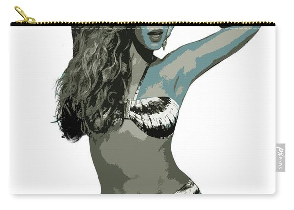 Beyonce Cutout Art Carry-all Pouch