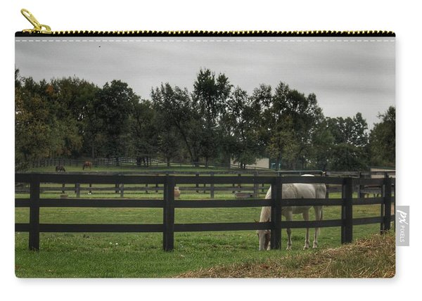 1004 - Beyond The Fence White Horse Carry-all Pouch