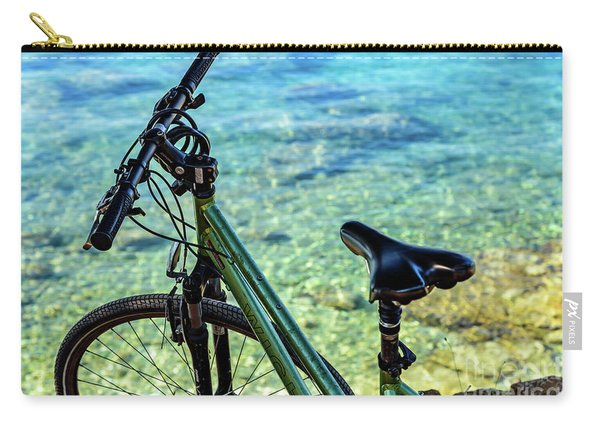 Bicycle By The Adriatic, Rovinj, Istria, Croatia Carry-all Pouch