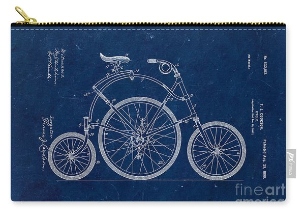 Bicycle From 1899 - Blue Carry-all Pouch