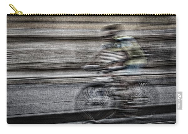 Bicycle Rider Abstract Carry-all Pouch