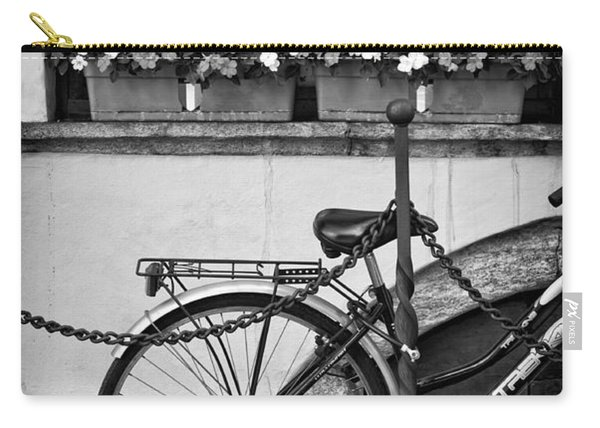 Bicycle With Flowers Carry-all Pouch