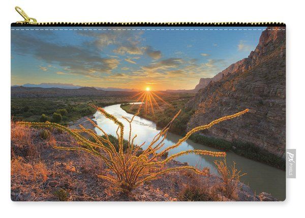 Big Bend Sunrise At Santa Elena Canyon 1 Carry-all Pouch