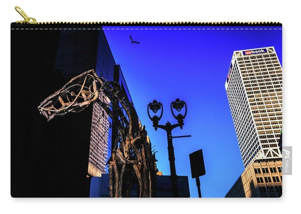 Big Piney Sculpture In Downtown Milwaukee Carry-all Pouch