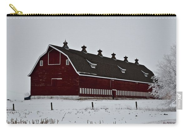 Big Red Barn In The Winter Carry-all Pouch