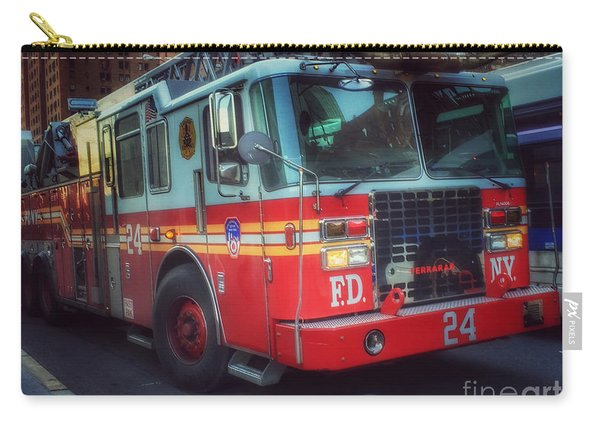 Big Red Engine 24 - Fdny - Firefighters Of New York Carry-all Pouch