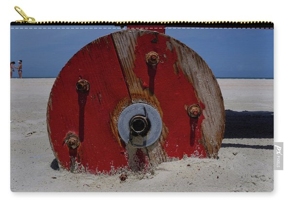 Big Red Wheel On The Beach In Daytona Florida Carry-all Pouch