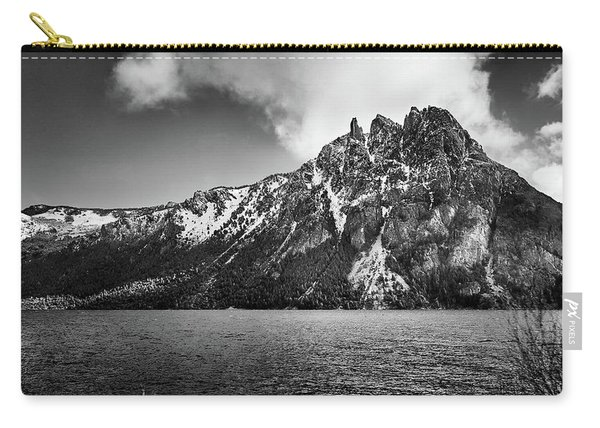 Big Snowy Mountain In Argentine Patagonia - Black And White Carry-all Pouch