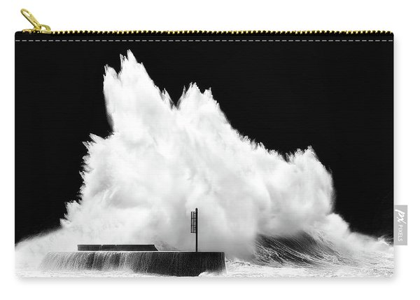 Big Wave Breaking On Breakwater Carry-all Pouch