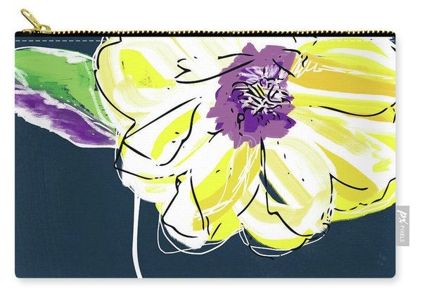 Big Yellow Flower- Art By Linda Woods Carry-all Pouch