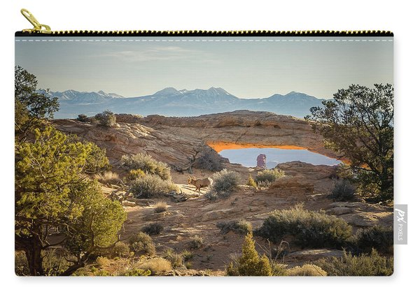 Bighorn Sheep And Mesa Arch Carry-all Pouch