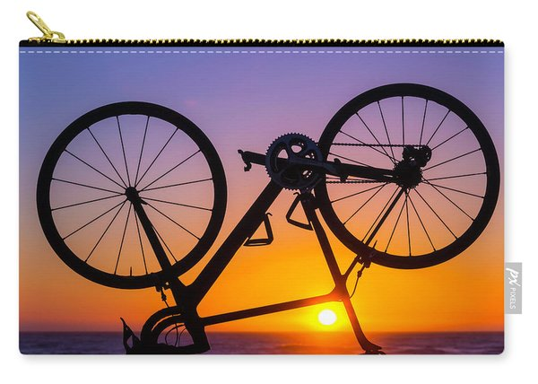 Bike On Seawall Carry-all Pouch
