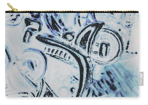 Bikes And Blue Cities Carry-all Pouch