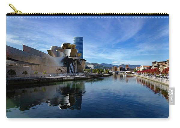 Bilbao In Autumn With Blue Skies Next To The River Nervion Carry-all Pouch