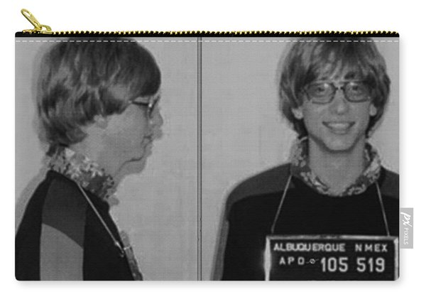 Bill Gates Mug Shot Horizontal Black And White Carry-all Pouch