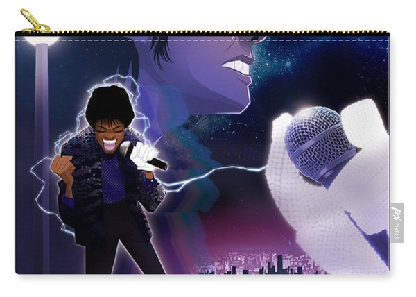 Carry-all Pouch featuring the digital art Billie Jean 2 by Nelson dedos Garcia