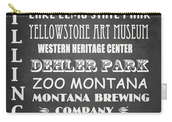 Billings Famous Landmarks Carry-all Pouch