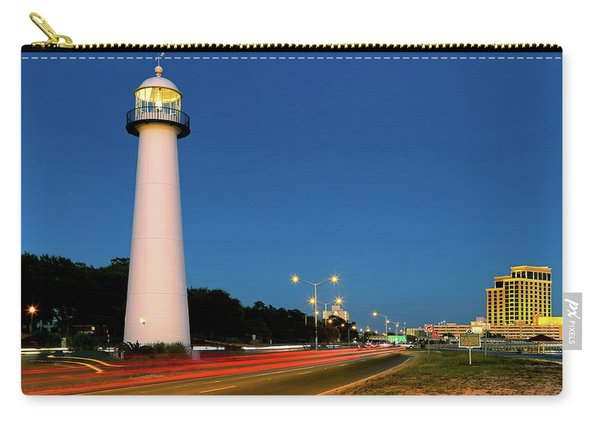 Biloxi Lighthouse At Dusk - Mississippi - Gulf Coast Carry-all Pouch