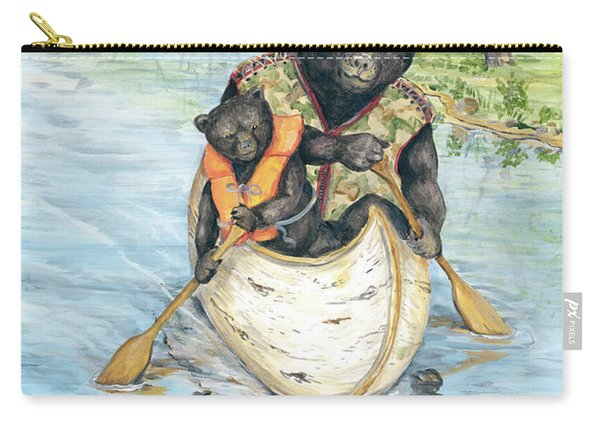Birch Bark Canoe Carry-all Pouch