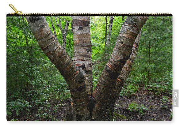 Birch Bark Tree Trunks Carry-all Pouch