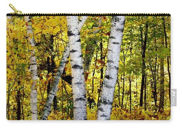 Birch In Gold Carry-all Pouch