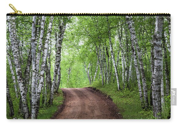 Carry-all Pouch featuring the photograph Birch Tree Forest Path #3 by Patti Deters