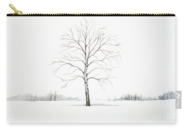 Birch Tree Upon The Winter Plain Carry-all Pouch