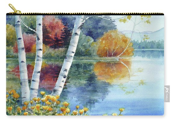 Birches At White Lake In Autumn Carry-all Pouch